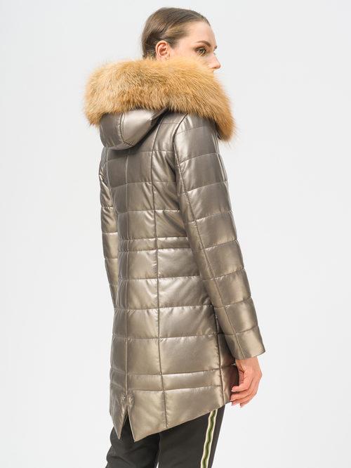 Кожаное пальто артикул 39109050/42 - фото 3
