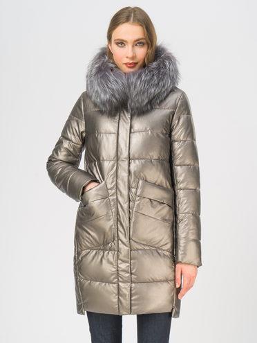 Кожаное пальто эко-кожа 100% П/А, цвет коричневый металлик, арт. 39109188  - цена 11290 руб.  - магазин TOTOGROUP