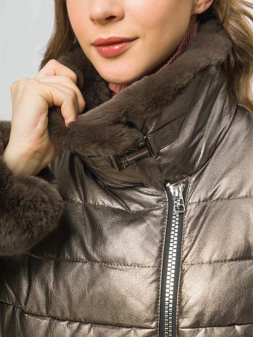Кожаная куртка артикул 39109344/42 - фото 4