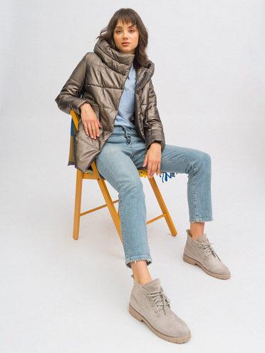 Кожаная куртка эко-кожа 100% П/А, цвет коричневый, арт. 39711742  - цена 4990 руб.  - магазин TOTOGROUP