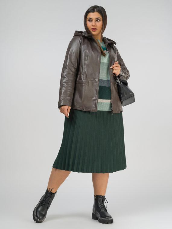 Кожаная куртка кожа, цвет коричневый металлик, арт. 39802503  - цена 14990 руб.  - магазин TOTOGROUP