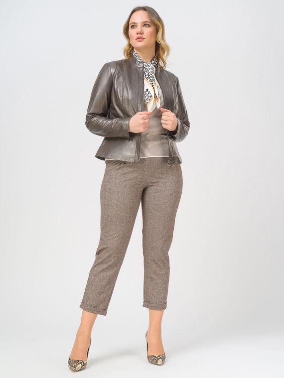 Кожаная куртка кожа, цвет коричневый металлик, арт. 39802505  - цена 13390 руб.  - магазин TOTOGROUP