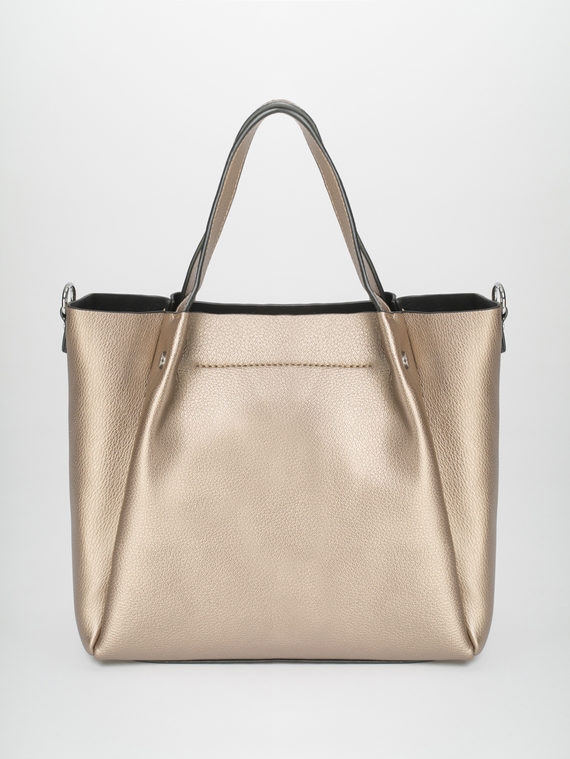 Сумка эко-кожа 100% П/А, цвет коричневый металлик, арт. 39810459  - цена 1950 руб.  - магазин TOTOGROUP
