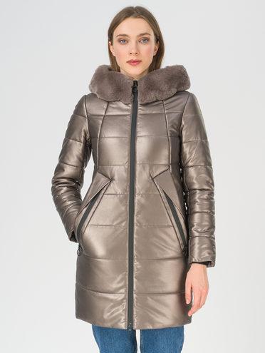 Кожаное пальто эко-кожа 100% П/А, цвет коричневый металлик, арт. 39810784  - цена 14190 руб.  - магазин TOTOGROUP