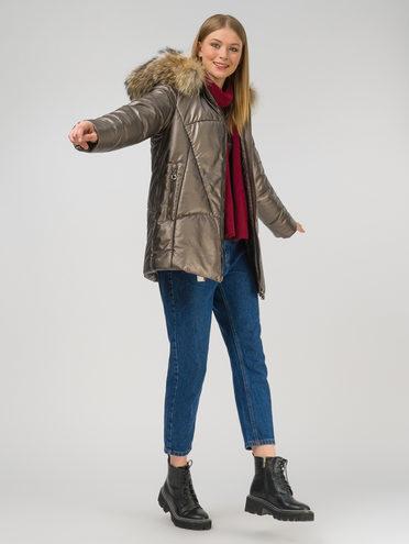 Кожаная куртка эко-кожа 100% П/А, цвет коричневый металлик, арт. 39810929  - цена 13390 руб.  - магазин TOTOGROUP